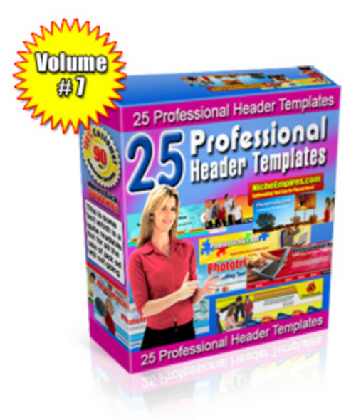 Product picture Pro Header Templates PLR Vol 7.zip